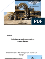 Gestión de mantenimiento Sesión 2  Aplicación y Características de Máquinas