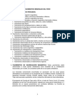 Tipos de Yacimientos Peruanos - Segundo Examen