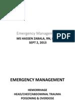 NCM 106 Emergency Management