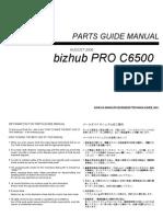 Konica-Minolta C6500 Parts Guide Manual