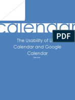 White Paper on the Usability of Online Calendar Applications