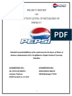 """Satisfaction Level of Retailers of Pepsico"""