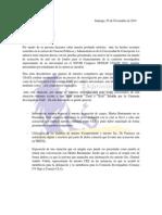Carta de CEAP-USACh a TRICEL CPA.
