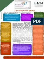 Gacetilla 8 Especialistas en Estúdios de Género Plantel Cuautepec