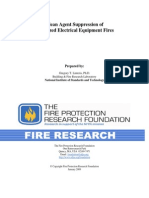 Clean Agent Suppression of Energized Electrical Equipment Fires