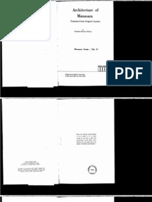 AcharyaPK-ArchitectureOfManasaraTranslation | Grammar | Column
