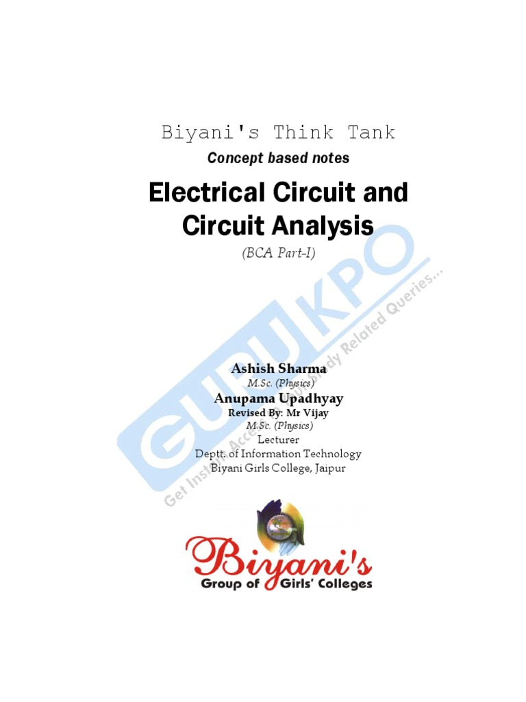 Electrical Circuits And Circuit Analysis Capacitor Dielectric Electric Design Mcqs