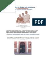 Día Mundial de La Salud Mental Dr Senen González Gómez 10 de Octubre 2014