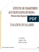 Presentation on Taxation of Salaries