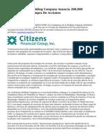 Los Ciudadanos Holding Company Anuncia 200,000 Programa De Recompra De Acciones