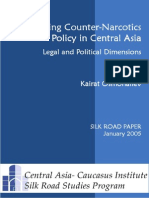 Developing  CounterNarcotics Policy in Central Asia in Central Asia in Central Asia
