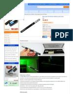Stylo Laser Vert Pointeur 200mw au prix le plus bas