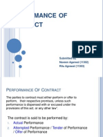 Performance of Contract