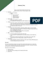 Life Savers Summary Notes
