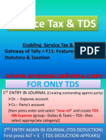 Service Tax & Tds ENTRY IN TALLY