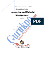 Production and Material Management