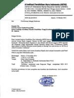 Surat Permohonan Pembicara Ketua LAM PTKes