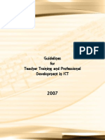 Guidelines Teacher Training