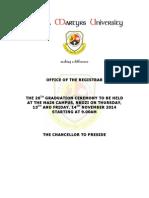 List of Graduands 20th Graduation Ceremon