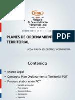 Planes de Ordenamiento Territorial