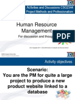 Human Resource Management Discussion CSG 2344 Week 7 2014