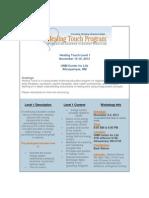 Healing Touch Program, Level I