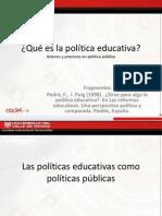 Actores y Proceso de Una Politica Educativa
