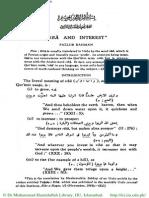 Riba and Interest- Fazlur Rahman
