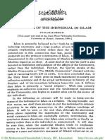 Status of Individual in Islam- Fazl Rahman Dr