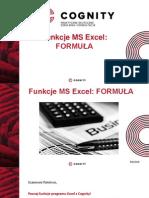 Funkcje Programu Excel - Formuła