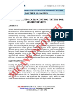 Context-based Access Control Systems for Mobile Devices - IEEE Project 2014-2015