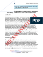 Context-driven,Prescription-Based Personal Activity Classification Methodology,Architecture,And End-To-End Implementation - IEEE Project 2014-2015