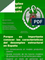 El Desempleo Estructural en España