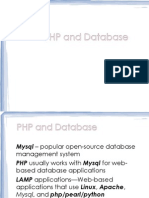 Discussion About PHP and Database