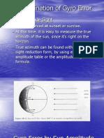 (I) Compass Deviation by Amplitude