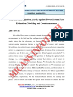 On False Data Injection Attacks Against Power System State Estimation Modeling and Countermeasures - IEEE Project 2014-2015