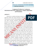 The Client Assignment Problem for Continuous Distributed Interactive Applications- IEEE Project 2014-2015