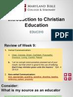 educ310- intro to christian education 10