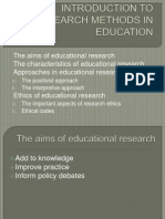 1. Introduction to Research Methods in Education