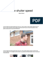 New Shutter Speed Presentation