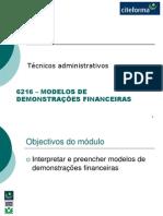 6216 - Modelos de Demonstrações Financeiras.ppt