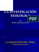 Investigacion Teologica Para II Parcial
