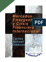 Mercado Emergentes y Crisis Financiera Internacional
