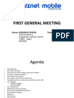 Whiznet Mobile Limited - Meeting Agenda