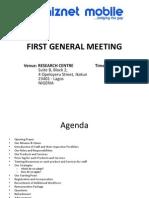 Whiznet Mobile Limited - Meeting Agenda