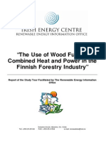 The Use of Wood Fuelled CHP in the Finnish Forestry Industry