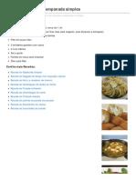 Receita de Berinjela Empanada Simples