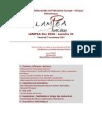 LAMPEA-Doc 2014 - numéro 33 / Vendredi 7 novembre 2014