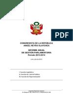 Informe Anual  2013-2014