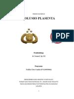 Solusio-Plasenta Nofilia - 07120090066